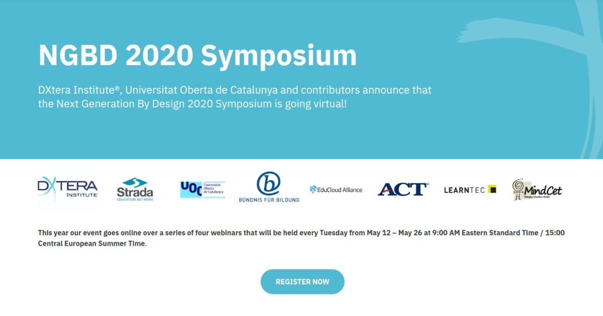 The Next Generation By Design 2020 Symposium is going virtual!